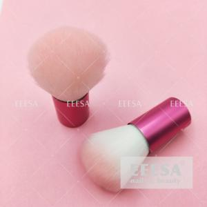 Wholesale Rose Wine Red Aluminum Handle Soft Hair Professional Nail Dust Cleaning Brush from china suppliers