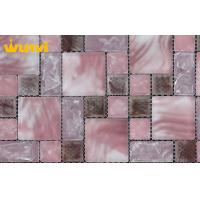 Wholesale Acid - Proof Ice Crackle Glass Mosaic Tiles For Showroom  Decoration from china suppliers