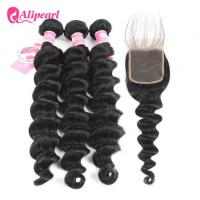 Wholesale Brazilian Human Hair Bundles With Closure Loose Deep Wave Weave Hair from china suppliers