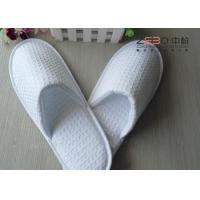 Wholesale Customized White Waffle Slippers , Hotel Closed Toe Slippers DS-016 from china suppliers