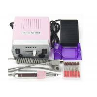 Quality ABS Plastic Pink Pedicure Acrylics Professional Electric Nail Drill 24*20*9.5cm for sale