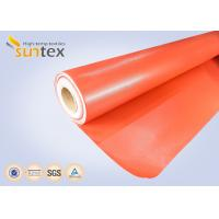 Wholesale Red Silicone Coated Fiberglass Fabric Fire Barrier Fabric For Heat Resistant Insulation from china suppliers