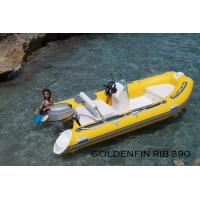 Wholesale 13Ft Fiberglass Hull Small Rib Boat in yellow color for fun on the sea from china suppliers