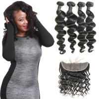 Wholesale Waterproof Brazilian Natural Hair Extensions Loose Wave Lace Frontal Closure from china suppliers