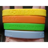 China Custom deboss or emboss silicone wristband,Bracelets,Available custom Silicone bracelets for sale