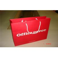 Recycled Red 157gsm Kraft Large Carrier Paper Bags UV Varnishing Printed for sale