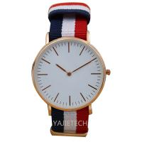 YJ792 famous design nylon strap watch, hot sales ladies man watch for sale