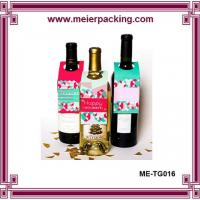 Wholesale Wine Bottle ID Tags/Custom Printed Promotion Sale Tag/Paper Gift Hangtag for Wedding Wine Bottle ME-TG016 from china suppliers