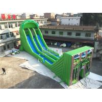 Wholesale Commercial Giant Inflatable Zip Line Slide For Adults Green Color from china suppliers