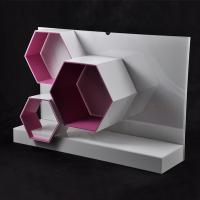 Wholesale Acrylic Makeup Display Stand With Hexagon Shape from china suppliers