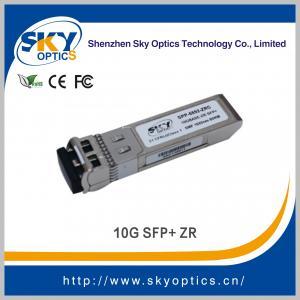 China 10g sfp 80km optical transceiver 80km sfp zr module, fiber optic equipment 10g sfp+ on sale