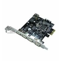 Fully plug 4 Ports USB 3.0 PCI Cards with PCI Express Base 480Mbps for sale
