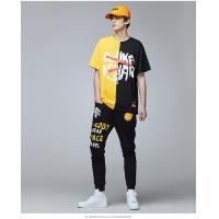 China 2019 Men's New Latest Hip Hop Design Printed Streetwear Short Sleeve T Shirt for sale