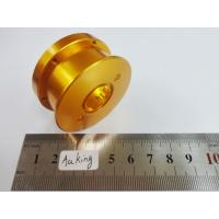 Gold Anodized brass turning parts ,  High Speed CNC Machining parts For Fishining Reel for sale