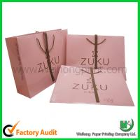 Wholesale Shopping paper bag with ribbon handle from china suppliers