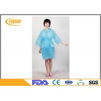 Buy cheap Pink Lightweight Disposable SPA Products Bathrobes / Bathroom Robe Sauna Suit from wholesalers