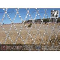 Wholesale 28mm Blade Razor Mesh Fencing 150X300mm Diamond Hole | China Razor Fence Supplier from china suppliers