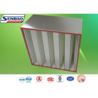 China Aluminum Frame V Bank Filters Multi - V Bank Mini Pleated Air Filter on sale
