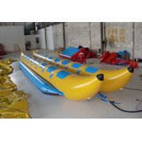 Wholesale Double Lane Inflatable Flying Fish Boat , PVC Tarpaulin Inflatable Banana Boat for Water Sport Game from china suppliers