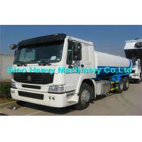 Wholesale HOWO White 6x4 Water Tank Truck / 25000L Oil Tanker Trailer 371 Horsepower from china suppliers