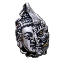 Wholesale Women Men Retro Sterling Silver Buddha Demon Design Pendant Necklace N808062 from china suppliers