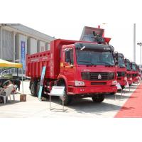Wholesale 340HP 6 x 4 HOWO Heavy Duty Dump Truck White Yellow and Red EURO III from china suppliers