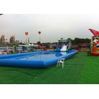 Wholesale Blue Large Inflatable Kids Swimming Pool With Slide For Inground Pools from china suppliers