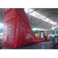 Quality Outdoor Commercial Inflatable Slide , Three Lanes Inflatable Slide For Kids And for sale