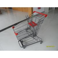 Wholesale Zinc Plated Low Carbon Steel 80L Supermarket Shopping Trolley With Bottom Tray from china suppliers