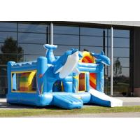 Wholesale Famous Blue Dolphin Party Castle Bounce House Durable PVC Material from china suppliers