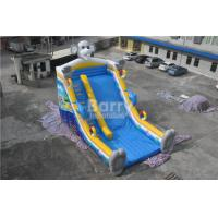 Wholesale QiQi elephant single lane Blow Up Slide with digital printing , commercial dry slide from china suppliers