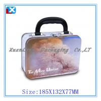 Wholesale Rectangle lunch tin box with lock and handle from china suppliers