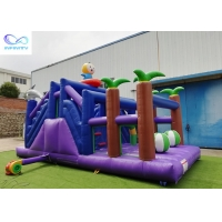 Wholesale 4 in 1 kids outdoor pvc tarpaulin material inflable bouncer Inflatable forest slide from china suppliers