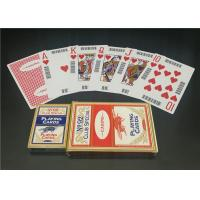 PVC Plastic Casino Playing Cards , Customized Deck of Playing Cards
