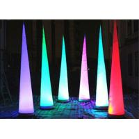 Wholesale Led Lighting Inflatable Advertising Products , Party Decoration Inflatable Cone from china suppliers