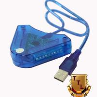 Wholesale Hot Sale New Blue USB PS&PS2 To PC USB Dual Player Adapter Convertor from china suppliers