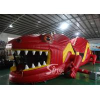 Wholesale 53ft Giant Outdoor Inflatable Red Lizard Obstacle Course For Kids Party Time Fun from china suppliers