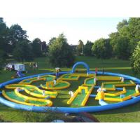 Wholesale Popular Crazy Inflatable Sports Games , Inflatable Golf Race Field For Event from china suppliers