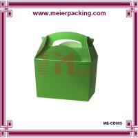 Wholesale Christmas paper packaging gift box/Custom handle carrier paper presentation box ME-CD005 from china suppliers