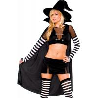 Wholesale Black Widow Witch Womens Sexy Costumes  Princess Peach Tight Leather Catsuit from china suppliers