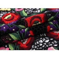 Wholesale Plain Embroidered Lace Fabric 100% Polyester For Wedding Clothes from china suppliers