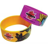 Offset Printed Silicone Bracelets, Colourful Silicone Wristband for sale
