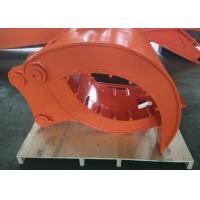 Buy cheap Quick Hitch Joint Excavator Grab Attachment , Backhoe Grapple Bucket High Performance from wholesalers
