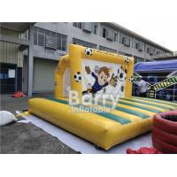 Buy cheap Outdoor Inflatable Sports Games , Backyard Inflatable Soccer Goal Game from wholesalers