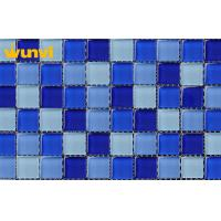 Wholesale Dark Blue and Light Blue Swimming Pool Mosaic Tiles , Glass Mosaic Wall Tile from china suppliers