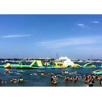 Wholesale Giant Open Water Inflatable Water Park , Best Fun Beach Water Parks With Logo Printing from china suppliers