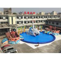 Wholesale Giant Pirate Ship Theme Inflatable Water Park On Land 36.5x20x8.5mH from china suppliers