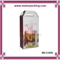 Wholesale Flute corrugated d2 bottle wine carrier box/Printed wine carton box for sale ME-CU008 from china suppliers