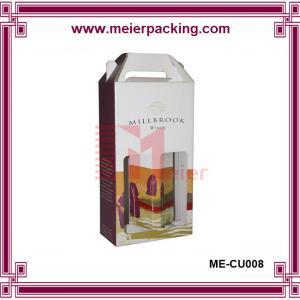 Wholesale Wine box, Single wine box, Double wine box, Paper handle double wine bottle box ME-CU008 from china suppliers