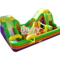 Wholesale Outdoor Inflatable Bouncy Obstacle Course Combo Slide With Small Climbing Wall from china suppliers